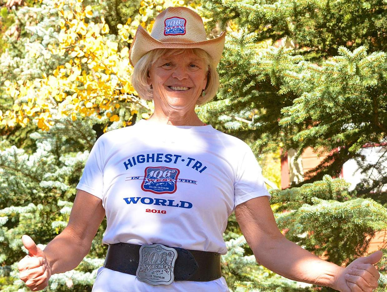 Summit local and lifelong swimmer Lydia Young. The 67-year-old former teacher was the final person to cross the finish line at the 106 West Triathlon in Dillon on Sept. 10 — and admits it will be the final time she tries a half-Ironman.