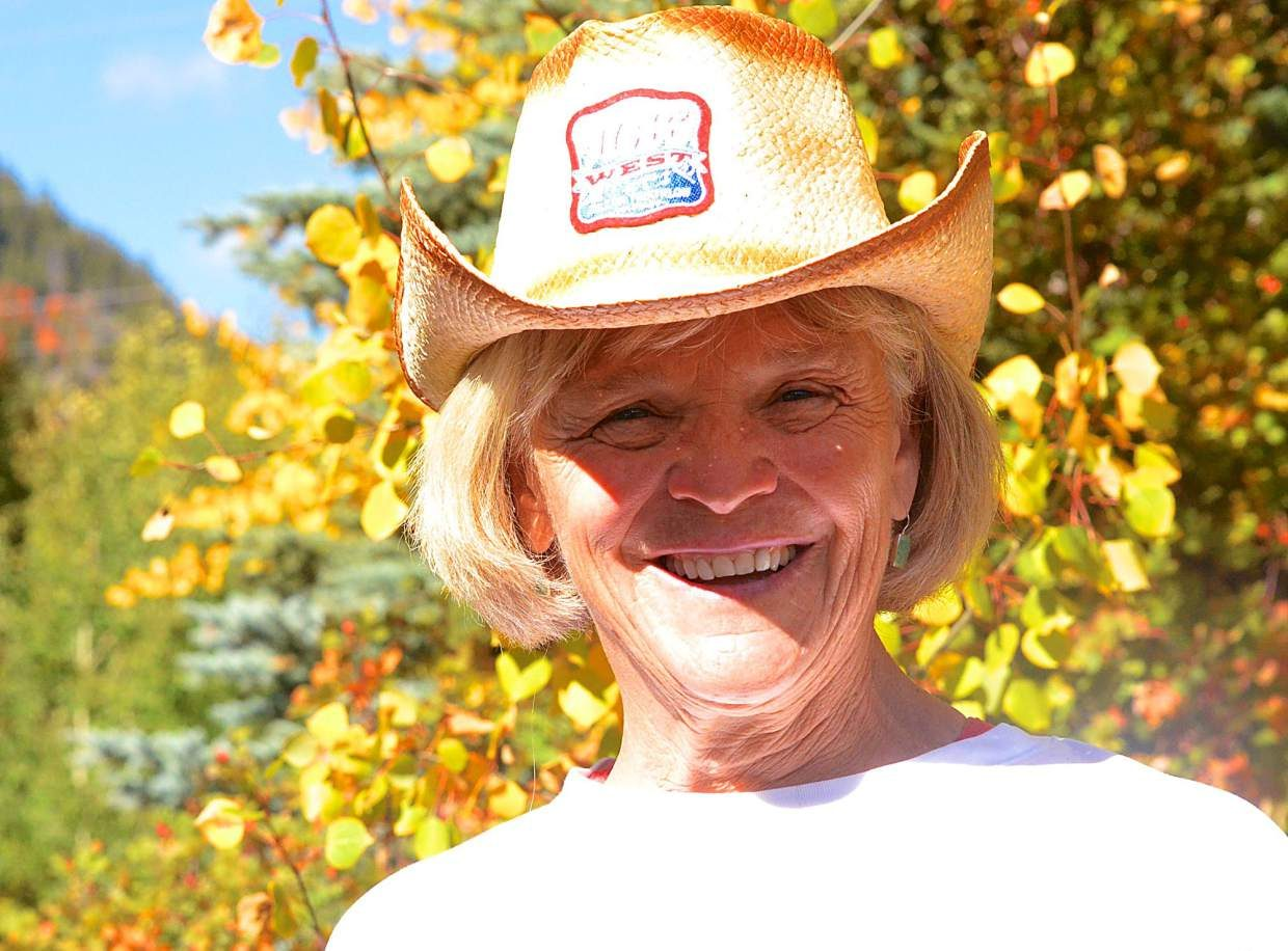 Local swimmer and triathlete Lydia Young. The 67-year-old former teacher started competing in triathlons after retiring in her 50s and recently finished her first (and final) half-Ironman, the 106 West Triathlon in Dillon on Sept. 10.