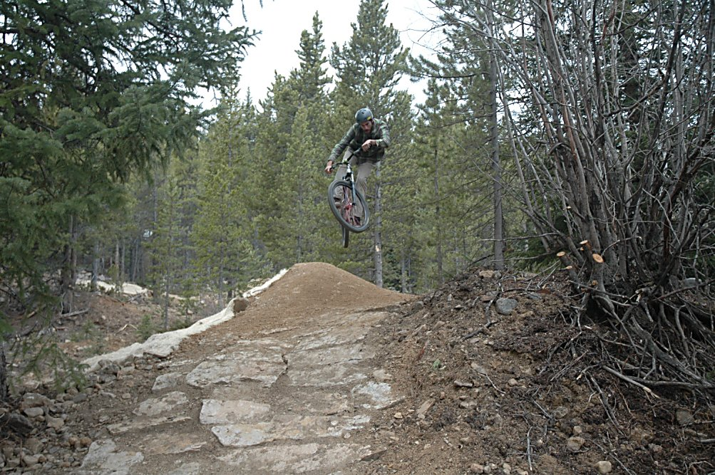 A cyclists powers though a section of the Welling Bike Park pump track shortly after it opened in June 2015. The park links up with Wellington Trail, a 0.75-mile luge-style ride between the park and Moonstone Road.