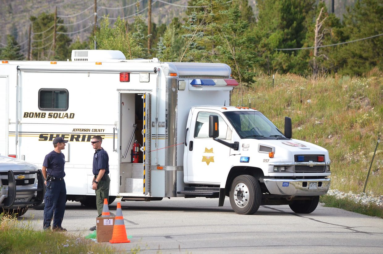 Jefferson County bomb squad arrived on the scene several hours after a box of World War II-era hand grenades and bazooka rounds were left at the Red, White & Blue fire station.