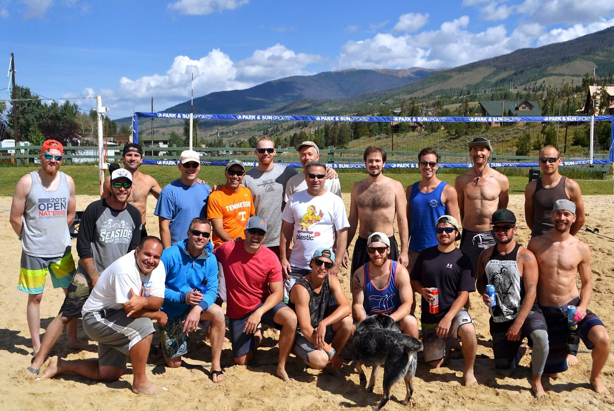 Competitors at the 2016 King of the Beach volleyball tournament on Aug. 27 in Silverthorne.