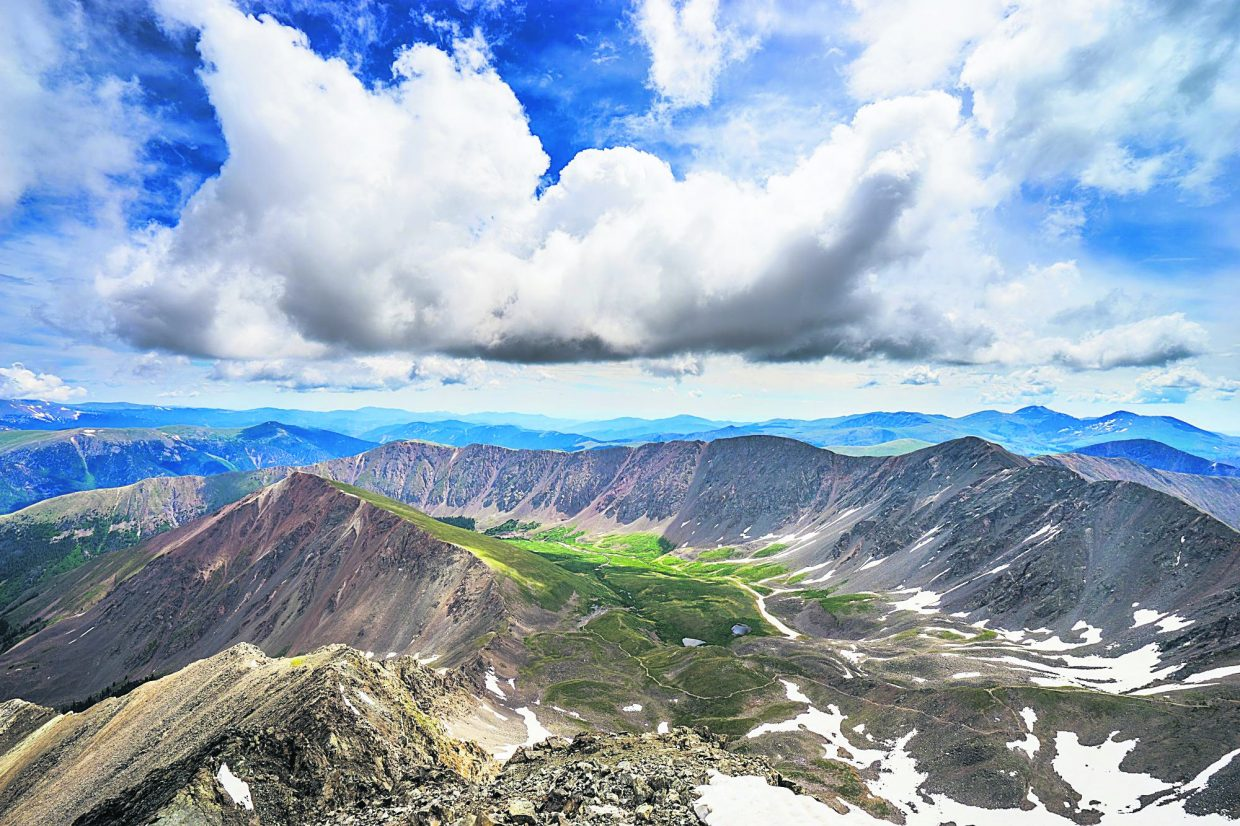 Views of heaven from the summit of Grays Peak (14,270 feet) — a sight Emily Dickinson never saw but still believed in.