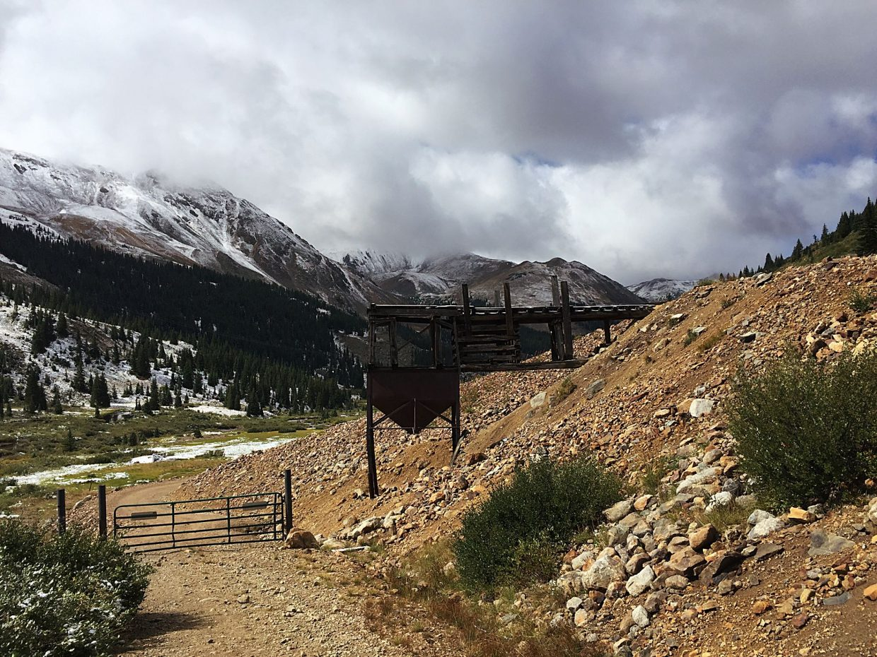 Argentine Pass trailhead, the access point for the South Ridge approach to Grays Peak (14,270 feet).