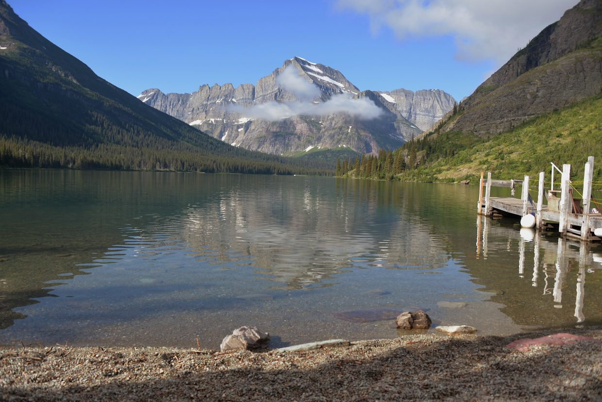 Lake Josephine on the Grinnell Glacier Trail.