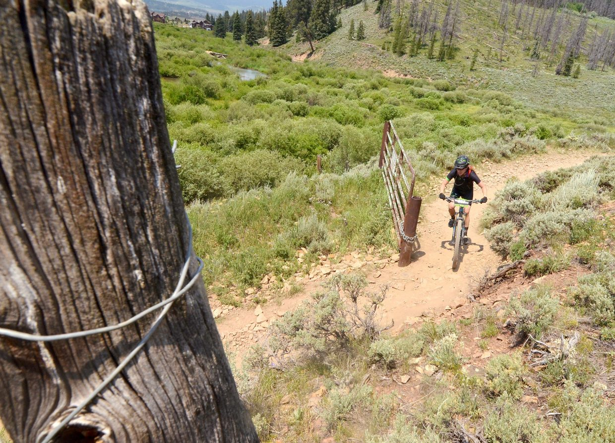 Scenes from the 2016 Breck 100 on July 16. More than 350 mountain bikers from across the state and nation came for a full day of riding on three local loops. On average, mountain biking burns 563+ calories/hour and up to 844 calories/hour on uphills or at race pace.