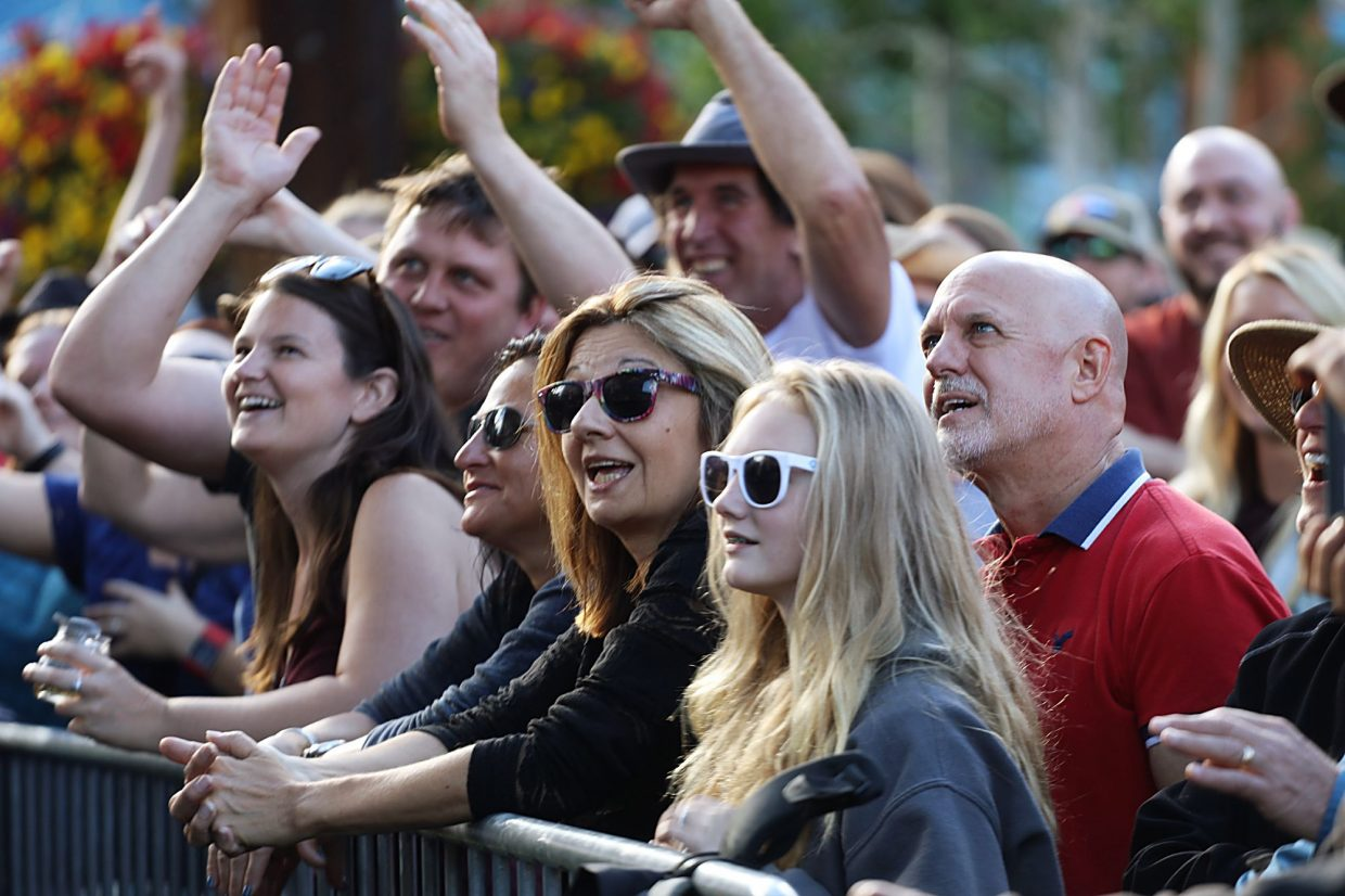 Center Village at Copper Mountain Resort was bustling over Labor Day weekend with crowds out for the free live music.