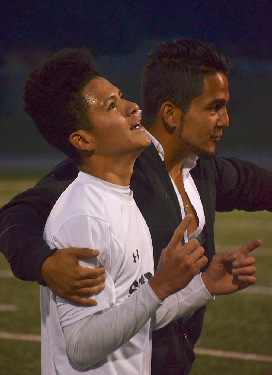Summit's Gerson Martinez after leading his team to a 2-0 victory at home against Conifer on Sept. 1. The senior forward had one assist in the first half and multiple shots on goal during the season opener.