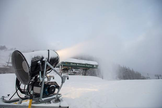 Snowmaking at the base of Arapahoe Basin early in the morning on Oct. 19. By mid-morning, officals at the ski area announced Black Mountain Express will open for the 2016-17 season on Friday, Oct. 19. Tickets are $76 for adults, $64 for teens (15-17 years old) and $38 for children.
