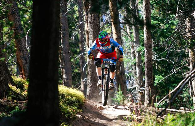 A competitor cruises down single track at the Vail Outlier Offroad Festival on Vail Mountain. Manufacturers have unveiled their 2017 lineups for bikes, helmets, cold-weather gear and more.