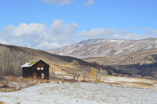 A small log cabin is one of the few pieces of development on the Doig Homestead property north of Silverthorne. The Summit County's Open Space & Trails Department recently purchased the 273-acre parcel for $2 million.