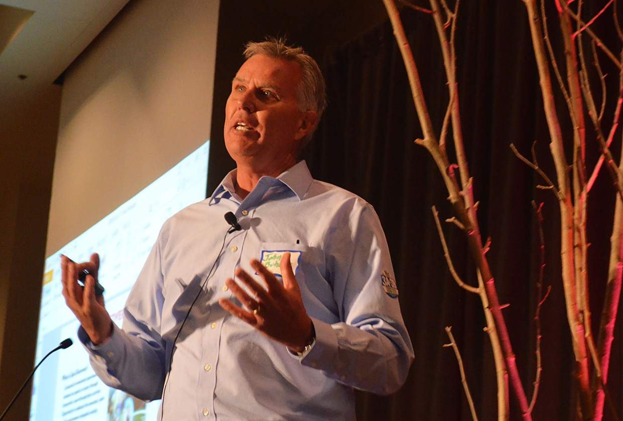 John Buhler, Breckenridge Ski Resort's COO, talked of upgrades to the ski area, including a new Peak 7 restaurant and upcoming Epic Discovery summer actitivies in 2017, during the annual COO breakfast on Tuesday, Oct. 4.