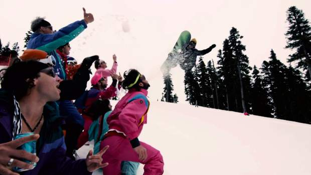 "A scene from ""Wildcats Never Die,"" the newest edit from The Wildcats snowboard crew of British Columbia."