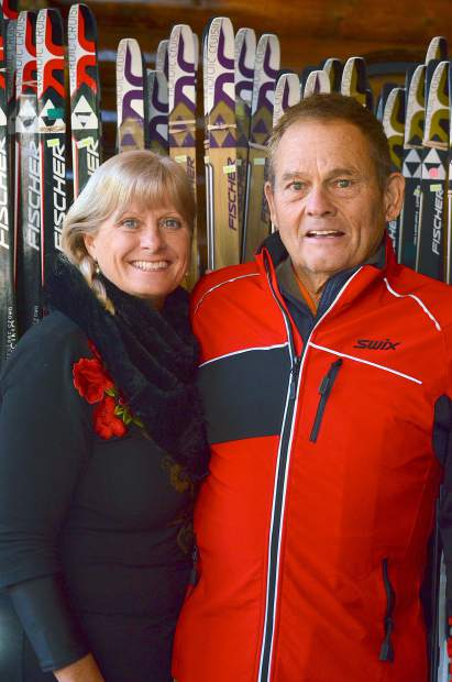 Therese and Gene Dayton, the longtime owners of the Frisco Nordic Center and Breckenridge Nordic Center. The couple stepped down from the Frisco center this year to focus on the Breckenridge center.