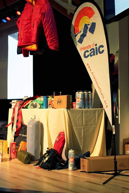 A pile of donated gear and other mountain essentials awaits raffle drawings and giveaways at the 2014 CAIC Benefit Bash. The Bash comes to the Riverwalk Center in Breckenridge this year on Dec. 3.