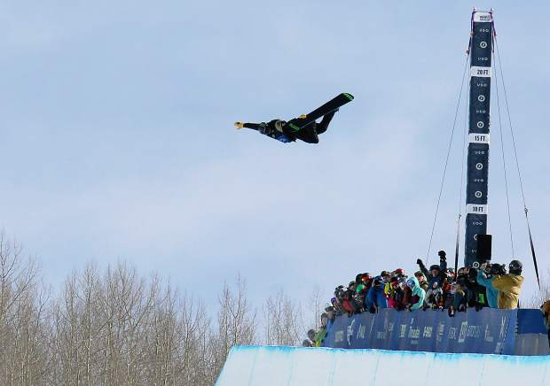 Steamboat Springs native Taylor Gold airs above the halpipe during Thursday's qualifying round of the 2015 Burton U.S. Open in Vail. The 21-year-old crashed in his first run of Saturday's finals landing hard on the deck of the 22-foot halfpipe wall and falling to the base of the pipe. After medical evaluation he got up and completed his final two runs, finishing eigth.