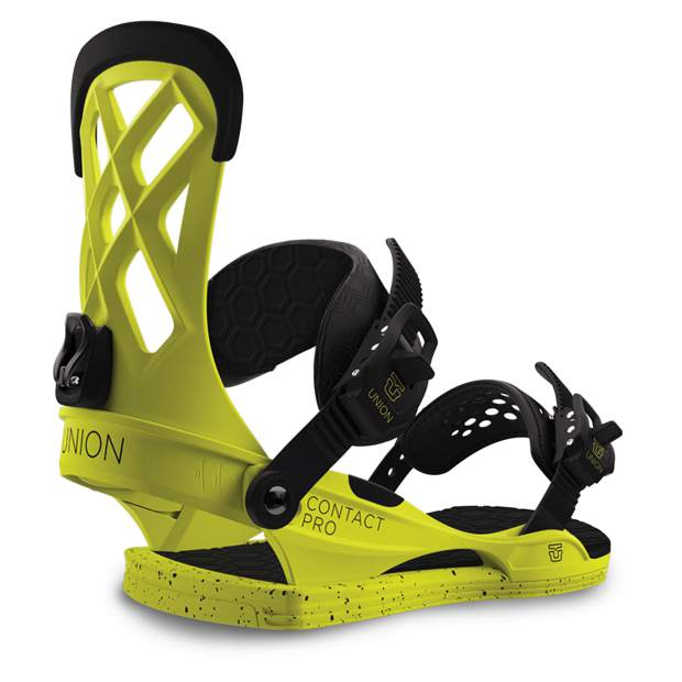The 2017 Contact Pro snowboard bindings from Union.