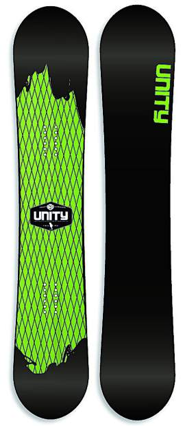 The 2017 Origin solid from Unity Snowboards of Silverthorne.