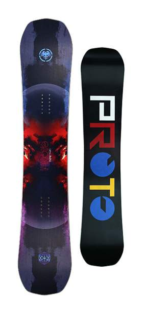The 2017 men's Proto Type Two from Never Summer Snowboards of Denver.