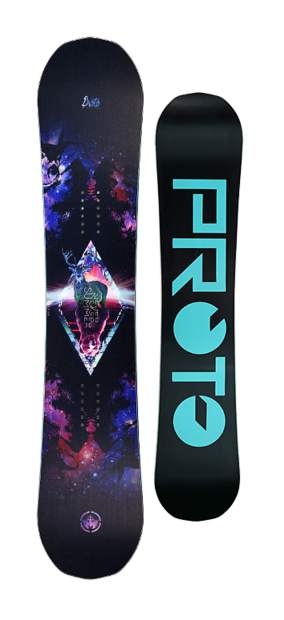 The 2017 women's Proto Type Two from Never Summer Snowboards of Denver.