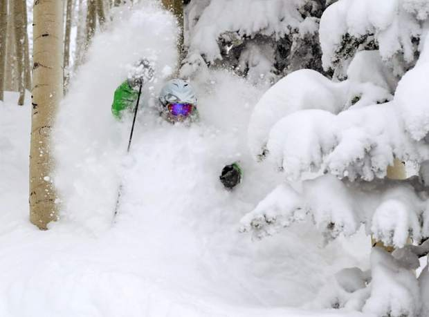 Allen Brando, of Steamboat Springs, makes tracks through 27 inches of fresh powder that fell at Steamboat Ski Area in 2012. For decades, longtime local Carroll Sherwood Jones, also known as Jupiter Jones, helped locals and visitors taste Steamboat's famous champagne powder through his backcountry tour business, Steamboat Powdercats.