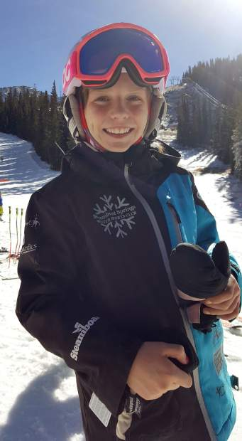 U-12 skiers Meaghan Maitre of the Steamboat Springs Winter Sports Club during a day of early-season training at Arapahoe Basin on Nov. 3. Maitre was one of 13 U-12 skiers at the resort, along with nearly a half-dozen other youth clubs and several international teams.