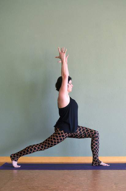 Crescent lunge pose is a yoga variation on a traditional lunge that stretches while strengthening your legs and core.