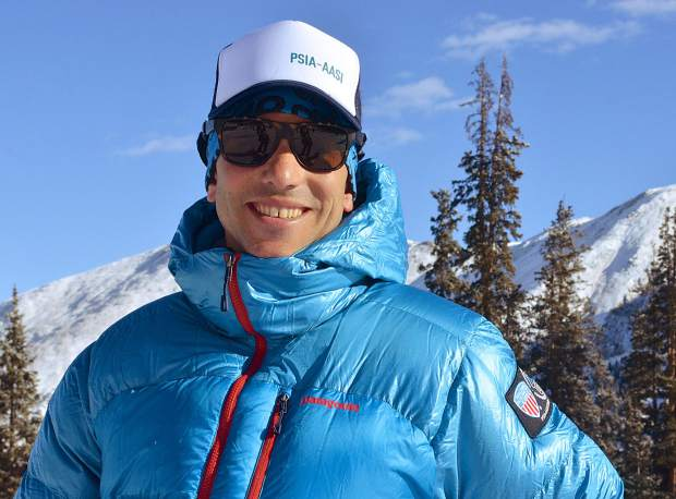 Nicholas Herrin, new chief executive officer for the Professional Ski Instructors Association, at Arapahoe Basin on Nov. 2. Herrin and roughly 130 PSIA members from across the U.S. came to Colorado for early-season training at Copper Mountain and A-Basin from late October to early November.
