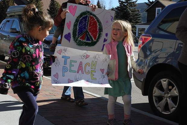 Children joined their parents in a rally speaking out against bullying and discrimination in Summit County Schools.