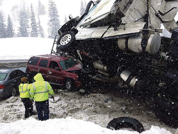 No one was injured in this accident in February 2016 that closed westbound Interstate 70 for several hours about 5 miles west of Vail Pass Summit, which is the No. 1 spot for I-70 closures, a PI data analysis showed.The I-70 Traction Bill that was killed in the senate this year would have required all passenger vehicles to have appropriate tires or chains during inclement weather.