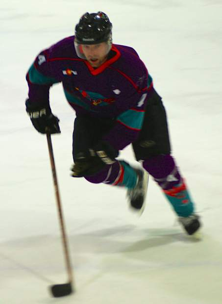 A Breck Vipers players streaks down the ice during a game last season. The semi-pro team earned an invite to the Mountain West Hockey League Cup Final last year thanks to league-leading play from Rick Batenburg, the team owner and founder.