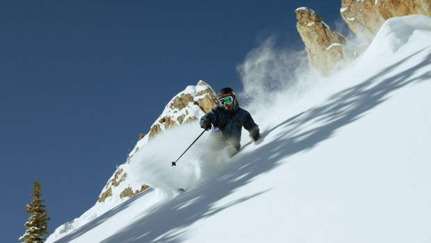 Aaron Blunck skiing Crested Butte for