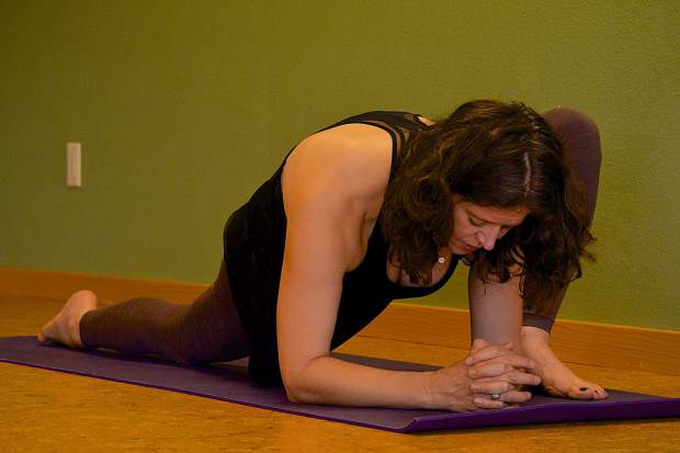Dragon Yin yoga pose for joint mobility.