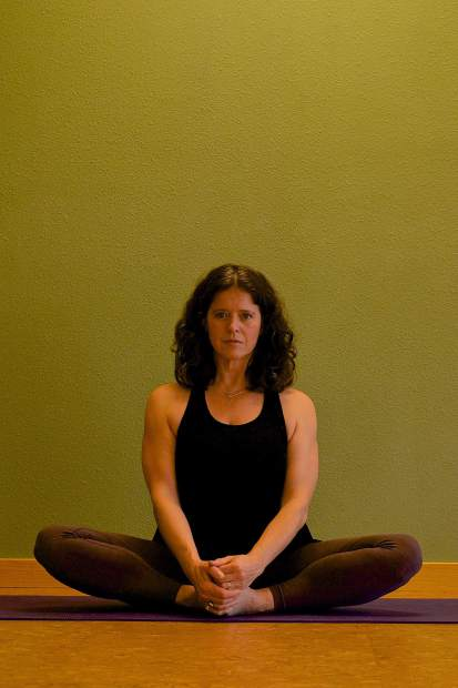 Butterfly Yin yoga pose for joint mobility.