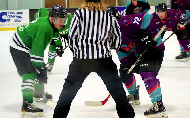 The Breck Vipers face off against the Vail Yeti during a semi-pro hockey game last season. The Vipers lost the 2016-17 home opener on Nov. 12 to the Yeti, 3-6.
