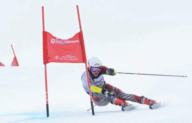 New Loveland Ski Club coach Taylor Shiffrin on the giant slalom course during the 2016 NCAA Skiing Championship in Steamboat Springs. Shiffrin, whose sister is Olympic gold medalist Mikaela Shiffrin, puts an emphasis on patience, diligence and fun in his ski training routine.