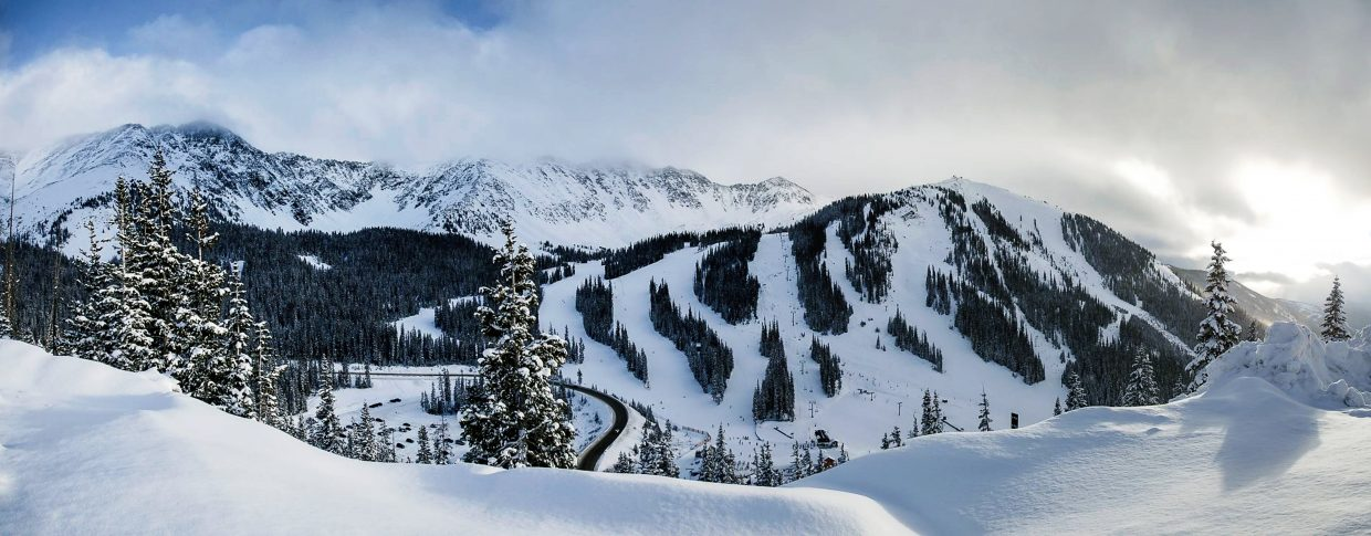 Arapahoe Basin Ski Area's lifts were closed Saturday morning due to high winds. A-Basin reopened Black Mountain Express at 2:44 p.m., but the others remained closed.
