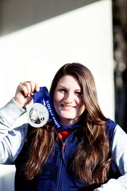 U.S. Olympic medalist Devin Logan. Logan returns to Breckenridge this weekend for women's ski slopestyle on Dec. 9 and Dec. 10.