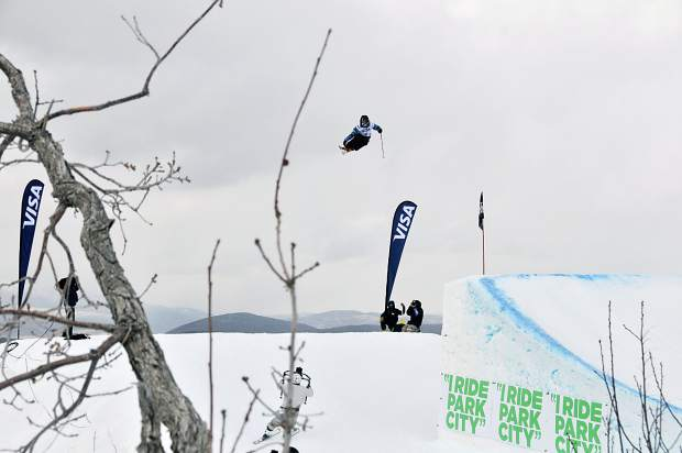 Devin Logan in the slopestyle finals at the 2015 U.S. Freeskiing Grand Prix at Park City Mountain Resort. Logan returns to Breckenridge this weekend for women's ski slopestyle on Dec. 9 and Dec. 10.