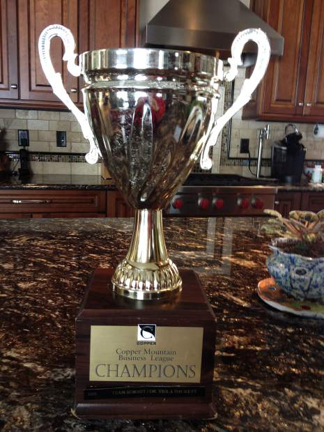 The Copper Mountain Business League Race Series cup. For seven years, local team Jensco Red has won the team title for the annual giant slalom series, held every other Thursday this winter beginning Jan. 12.
