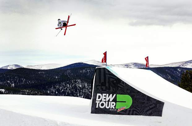 Matt Walker of Aspen hits the lower jump line during the Dew Tour men's slopestyle semifinals at Breckenridge Ski Resort in 2015. The event returns to Breckenridge with a new format Oct. 8-11, including a two-part ski and snowboard slopestyle for men and women on Dec. 9, 10 and 11.