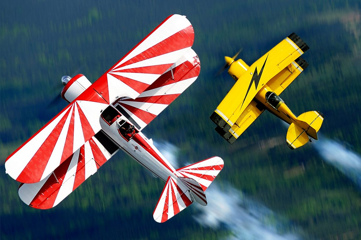 This weekend's Air and Water Show in Dillon will feature a duo performance of aerobatic feats and a mock dogfight, including Summit County local Gary Rower in a WWII-era PT-17 craft (in red).