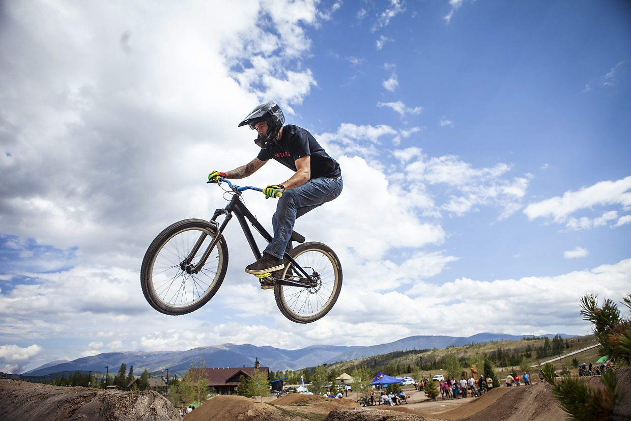 A biker airs through the jump line at Frisco Bike Park last season. The park welcomes the true start to summer cycling season with the Frisco Bike Fling, a day-long event featuring pros, sponsor tents, guided group rides and more, on June 12 from 10 a.m. to 3:30 p.m.