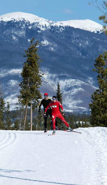 Competitors race in the Frisco Gold Rush, the longest-running Nordic event in Colorado. Summit County is home to four Nordic centers and all of them offer beginner-friendly lessons and gear rentals.
