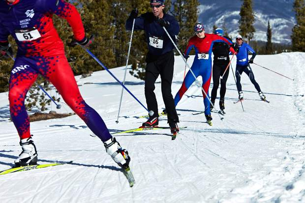 Nordic skiers speed along a track during a past race in Summit County. Local Nordic coaches weigh in on the top mistakes — and remedies — for newcomers to the sport.