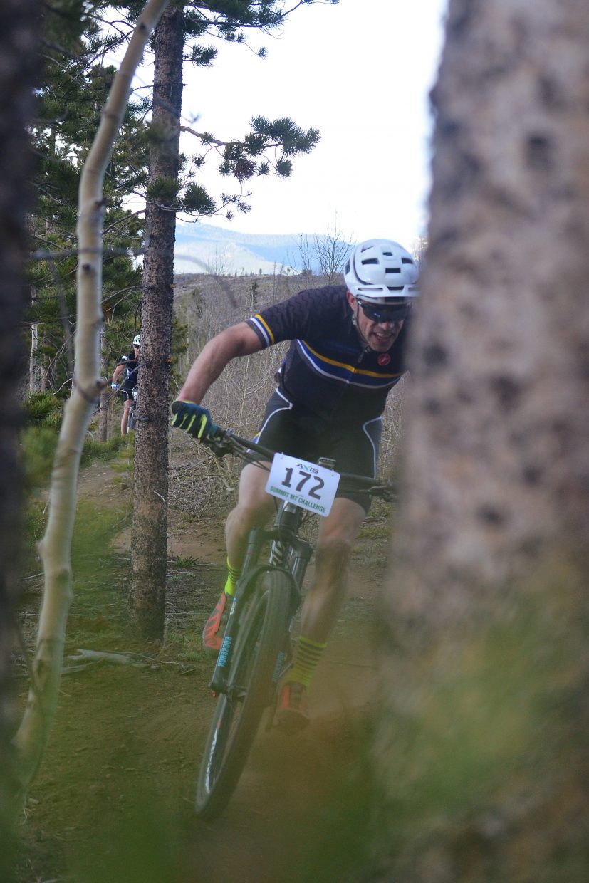 Jeff Cospolich eyes a tight corner on the Frisco Peninsula during the 2016 Frisco Roundup on June 1. The race kicked off the 30th anniversary season for the local mountain bike series.