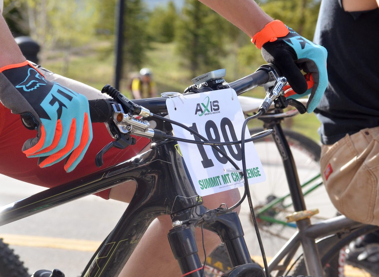 The race plates and finger fashion at the 2016 Frisco Roundup on June 1. The race kicked off the 30th anniversary season for the local mountain bike series.