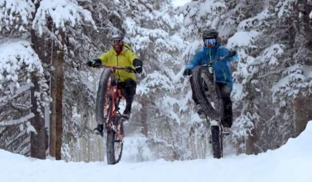 Fat bikers pop wheelies in Crested Butte for