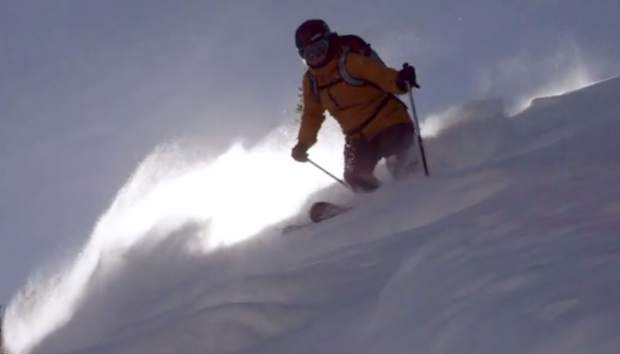 Skier Ingrid Backstrom makes turns at Crested Butte in