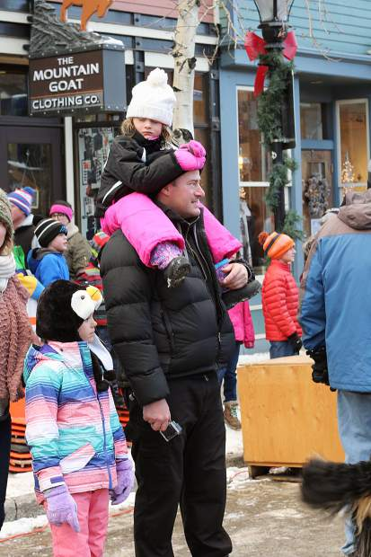 Spectators observed the Bernese Mountain Dog Parade on Main Street in Breckenridge.