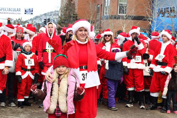More than 400 people registered for this year's Race of the Santas in Breckenridge.
